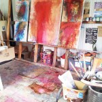 Jenny Davis_Wallmatter in studio_Mixedmedia sm